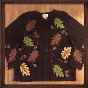 Vintage Ugly Fall/Thanksgiving Leaves Sweater